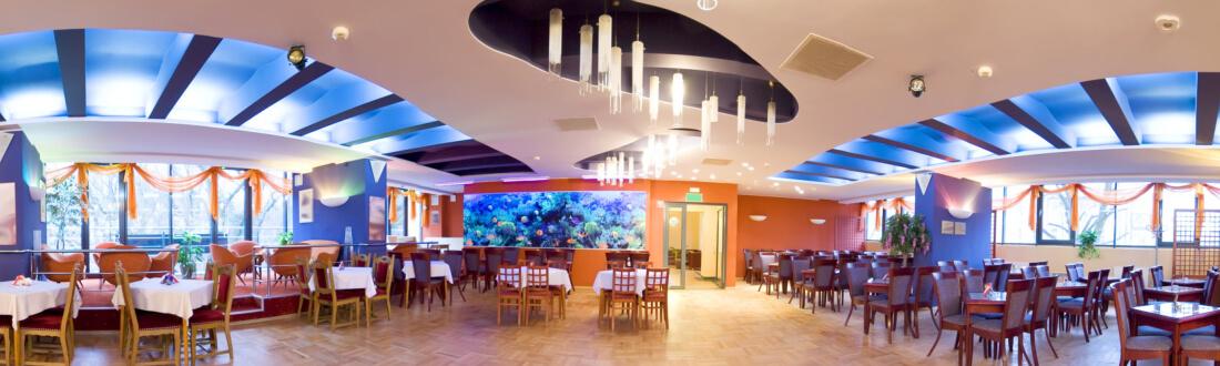 The interior of a hotel ballroom
